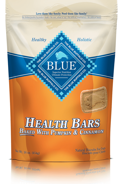 Blue Buffalo Pumpkin & Cinnamon Dog Health Bars 16 oz