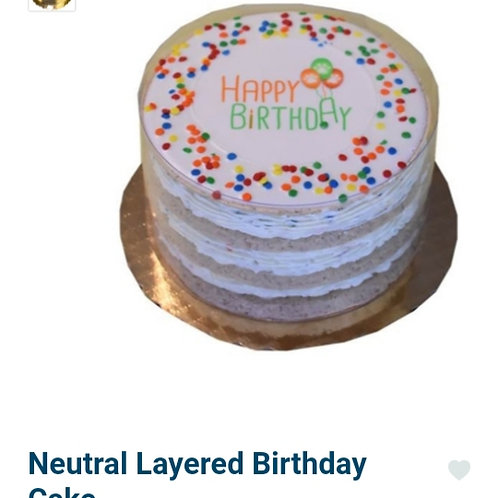 Neutral Layered Birthday Cake