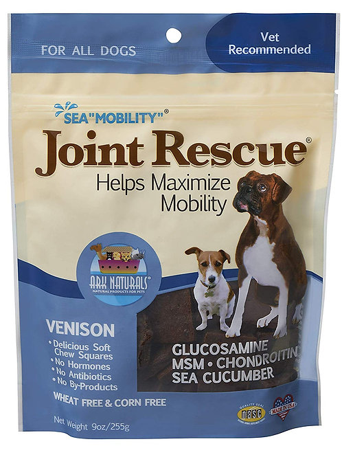 Roll over image to zoom in Ark Naturals Sea Mobility Joint Rescue Chews, Venison
