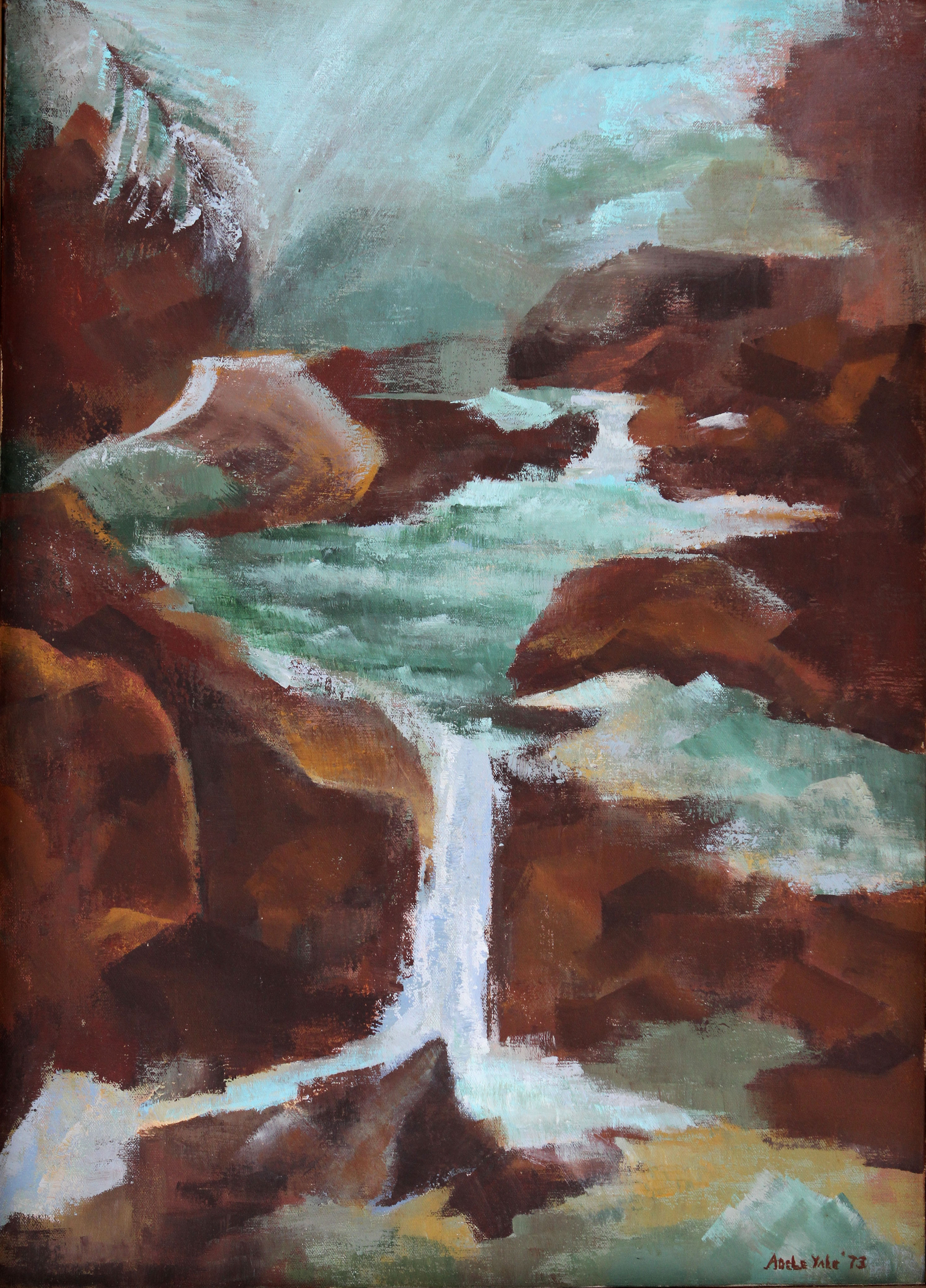 Rocky Waterfall 28x20