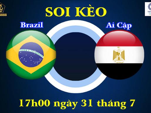 Soi Kèo Olympic Tokyo 2020 | U23 Brazil Vs U23 Ai Cập | 17h00 Ngày 31/07