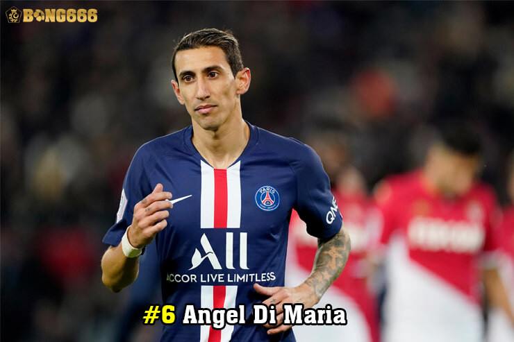 Cầu thủ có nhiều đường kiến tạo - Angel Di Maria