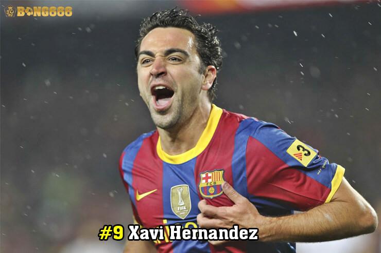 Cầu thủ có nhiều đường kiến tạo - Xavi Hernandez