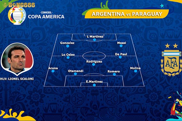 Đội hình ra sân của Argentina
