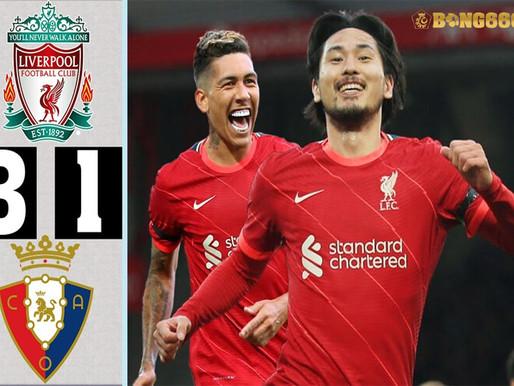 Kết Quả Liverpool 3-1 Osasuna: Firmino Tỏa Sáng Với Cú Đúp