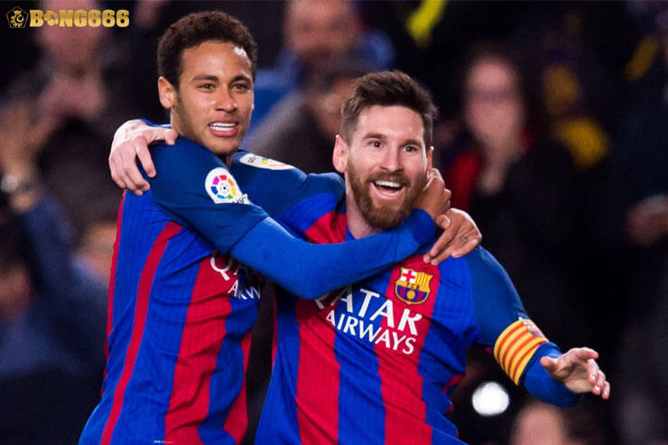 Tình bạn thân thiết giữa Neymar và Messi