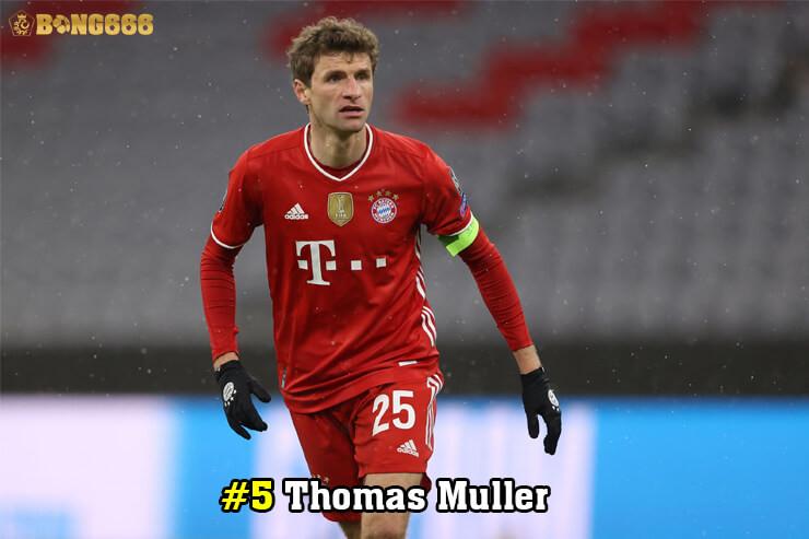 Cầu thủ có nhiều đường kiến tạo - Thomas Muller