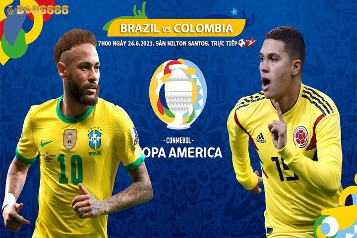 Dự đoán tỷ số giữa Colombia với Brazil