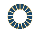 The Global Goals logo in academic blue and gold outlines