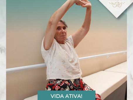Vida Ativa na Terceira Idade, com exercícios e atividades!