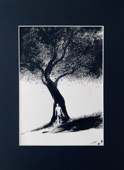 Untitled (man in front of tree)