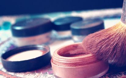 powder makeup and brush