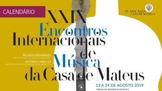 29º Encontro Internacional de Música da Casa de Mateus