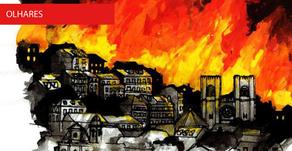 """Ilustração - """"Lisboa em Chamas"""""""