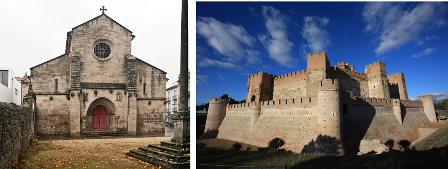 Sé de Vila Real e Castelo de la Mota.