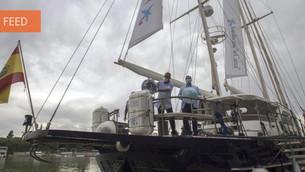 Veleiro conta a história da primeira viagem de circum-navegação