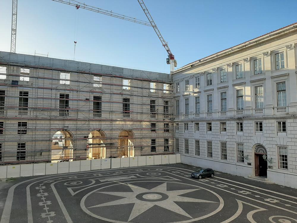 Palácio Nacional da Ajuda. Ala poente em construção.