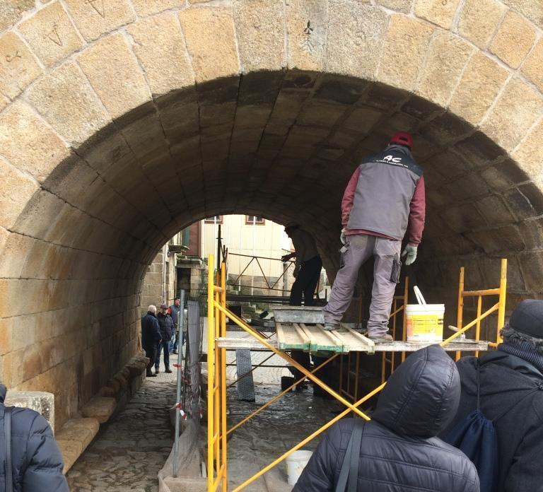 Trabalhos de reabilitação na Ponte