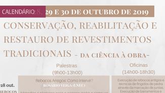 """Curso """"Conservação, Restauro e Reabilitação de Revestimentos Tradicionais"""""""