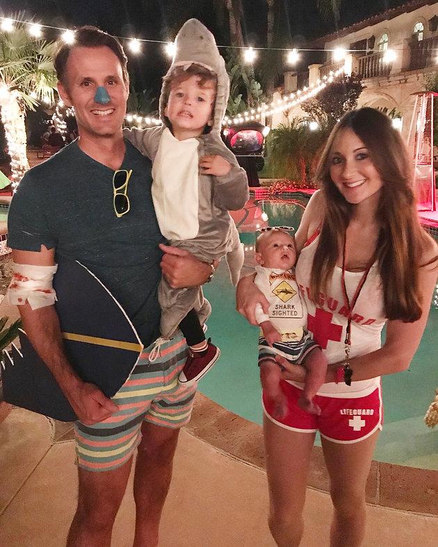 Last Minute Semi DIY Family Halloween Costumes Shark Attack ...