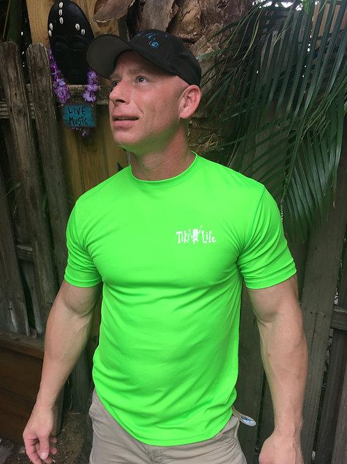 SPF Unisex Short Sleeve (Neon Green / White Logo)