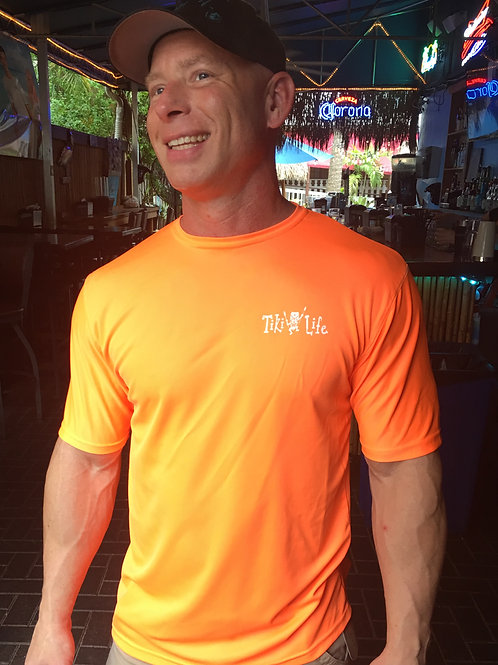 SPF Unisex Short Sleeve (Neon Orange / White Logo)