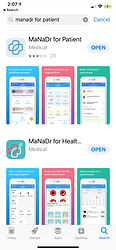 Download MaNaDr App for Patient