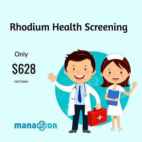 Rhodium Health Screening [MIN 3 PAX]