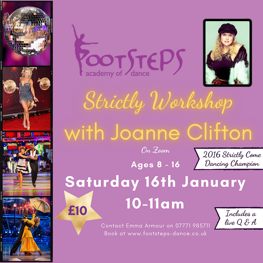 Strictly Workshop with Joanne Clifton