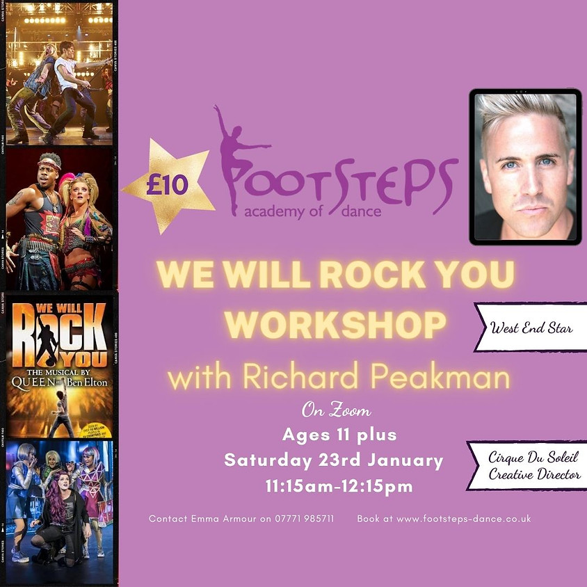 We Will Rock You Workshop with Richard Peakman
