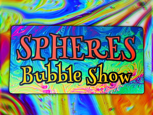 Spheres Bubble Show Rainbow Sticker