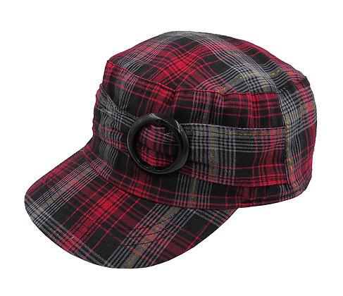 Ladies check cap