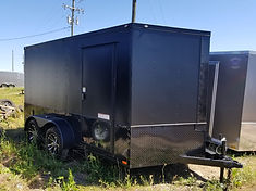 7x14 Diamond Cargo Black Out Motorcycle Trailer