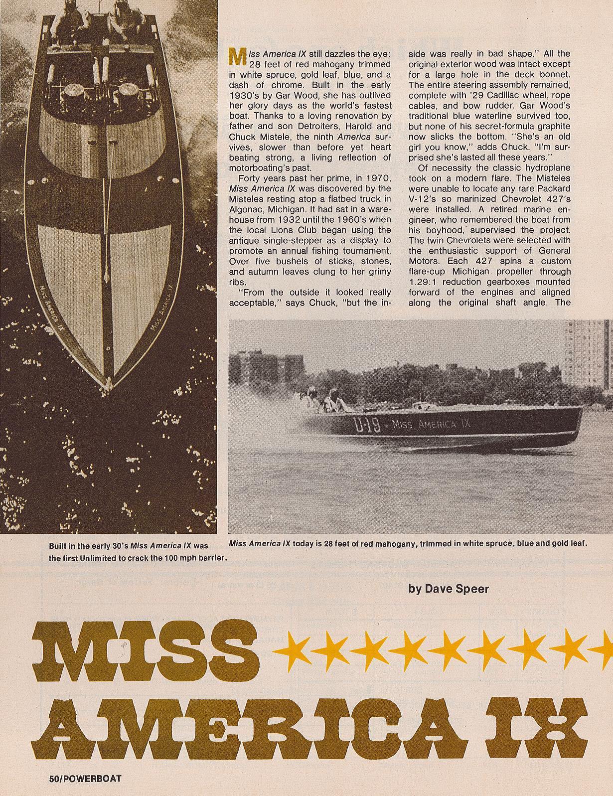Miss America IX Page 1