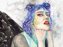 最喜歡畫壞壞氣質的女生👁_#眼線一定要又長又粗_#妝要濃又艷_#就是重口味😂