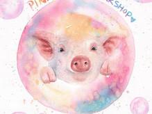 今年係豬年~2019第一個workshop🐽_一於同大家畫豬仔啦!豬同粉紅色真