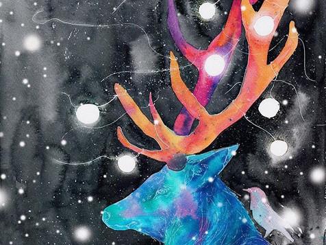 🎄🦌冰冷的天氣可以快快到嗎_2017聖誕系列插畫✌🏻也是會做成聖誕卡的_上