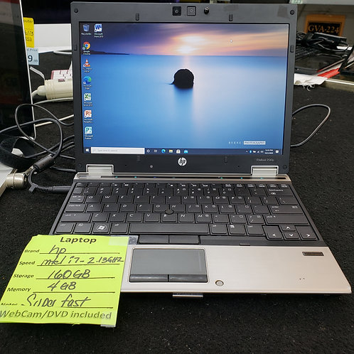 HP EliteBook 2540p - Intel Core i7- 4 gb ram - 160 gb  hd