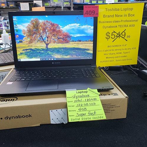 dynabook Tecra A50-F -  New - intel  - 4 gb ram  - 128 gb  SSD Fast