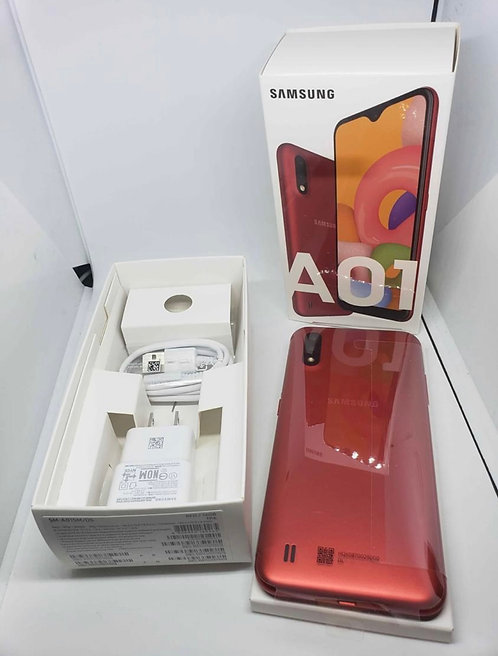 "Samsung Galaxy A01 | 5.7"" Screen | 16 GB Storage| Dual Sim | Box & Accessories"