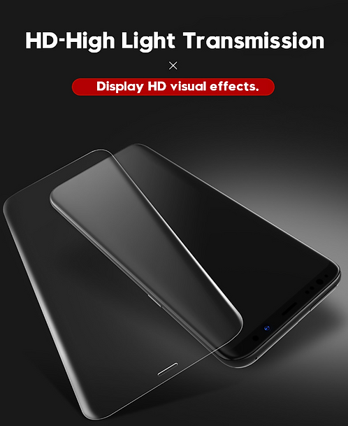 Precision Cut Tempered Glass Screen Protector with HD Light Transmission S8 & S+