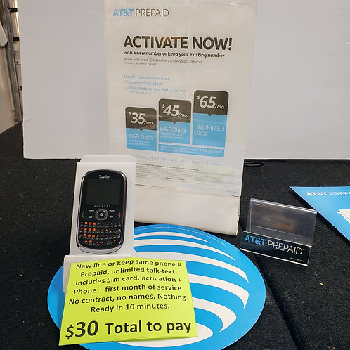 Alcatel + Activation with AT&T
