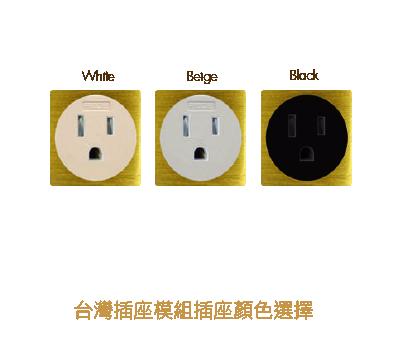 台灣插頭模組