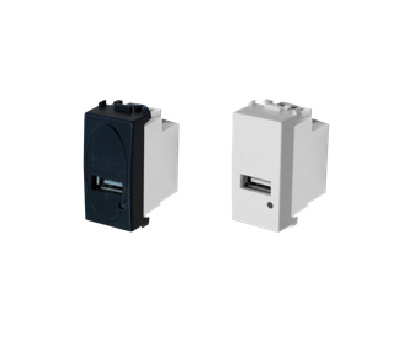 窄模組-USB插孔/台灣插頭