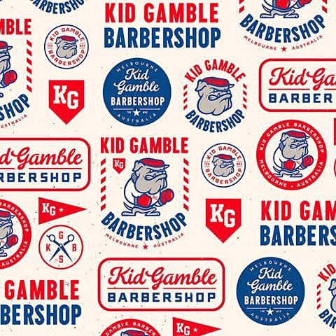 Kid Gamble Barbershop Branding System