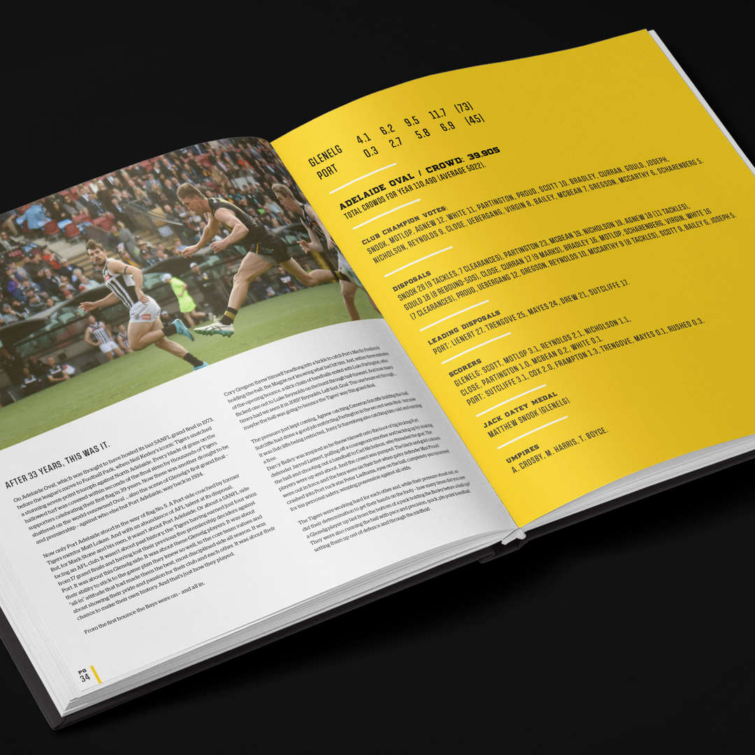Glenelg Football Club 2019 Premiership Yearbook