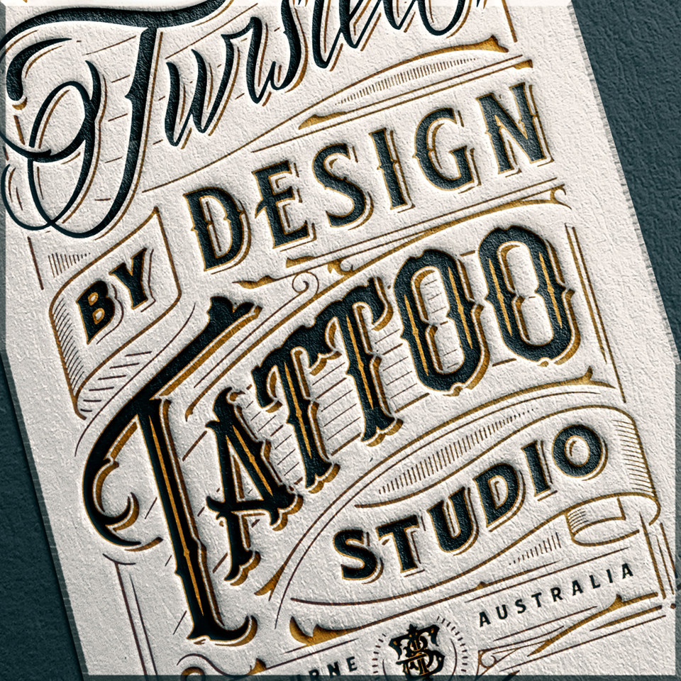 Twisted By Design Tattoo Studio Logo Design