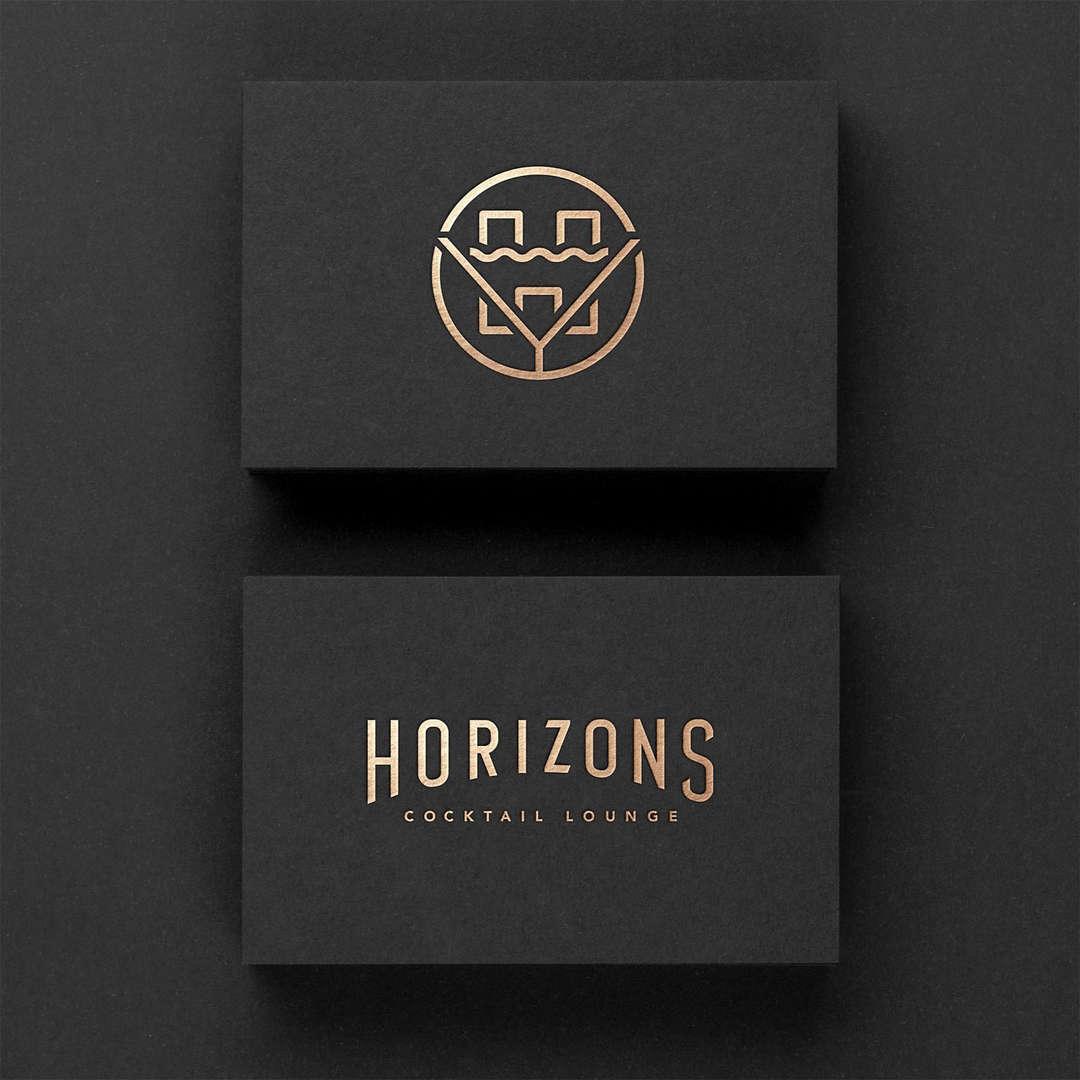 Horizons Cocktail Lounge Branding