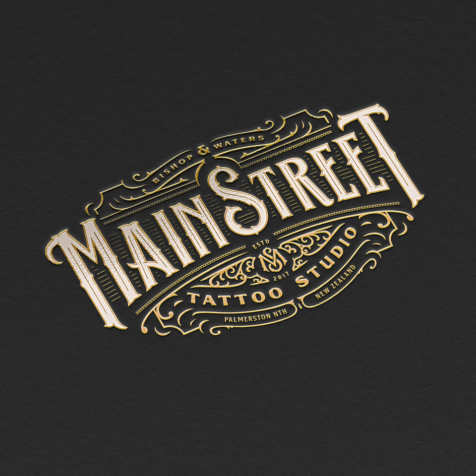 Main Street Tattoo Studio Logo Design