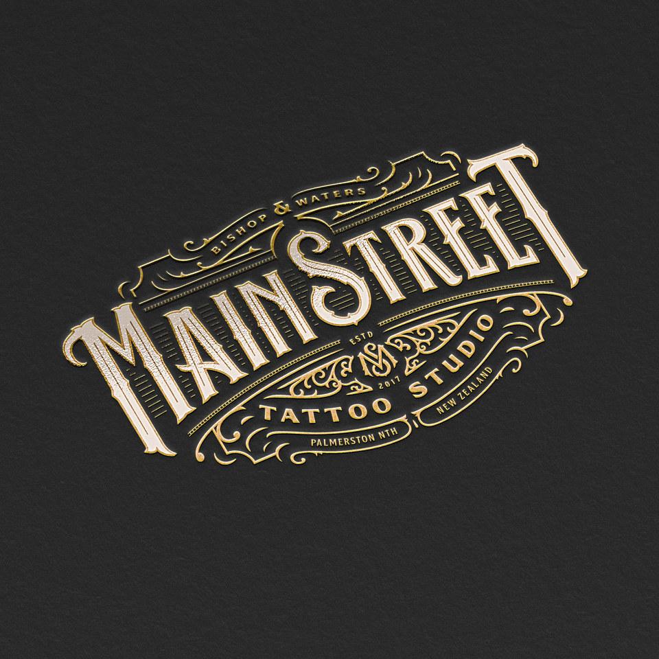 Main Street Tattoo Studio Logo Design